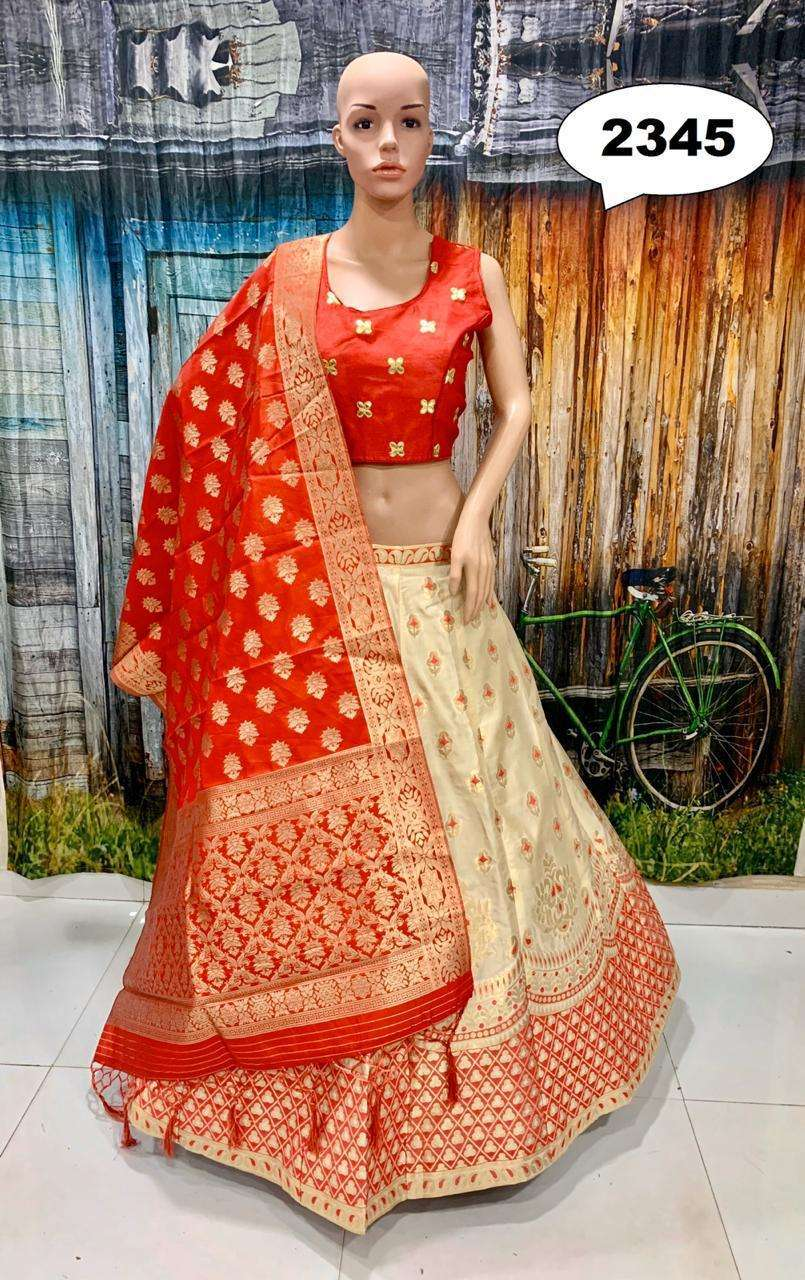 Lehenga 2300 Series By Fashid Wholesale 2344 To 2357 Series Designer Beautiful Wedding Collection Occasional Wear Party Wear Brocode Lehengas At Wholesale Price,Price List Latest Lehenga Designs 2020 With Price