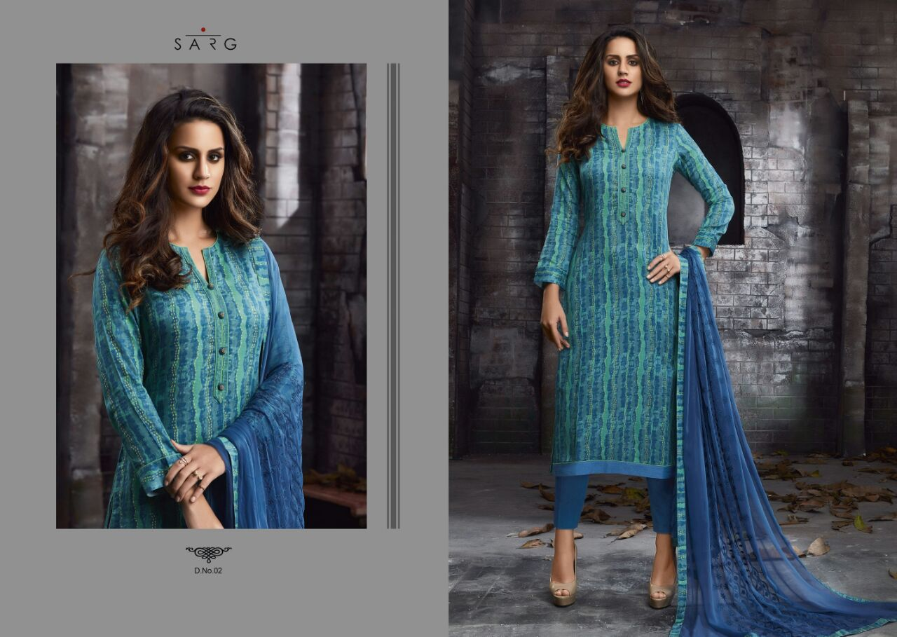 ARUDRA BY SARG 01 TO 12 SERIES PAKISTANI BEAUTIFUL SUITS WITH ...