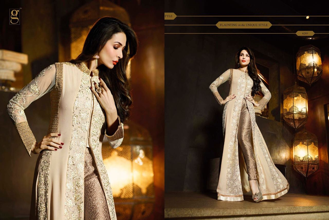 Manufacturer of elegant dresses evening dresses occasional wholesale -  Party Wear Occasional Wear Georgette Dresses At Wholesale Price Glossy Hit Designs Glossy Wholesaleprice 6201
