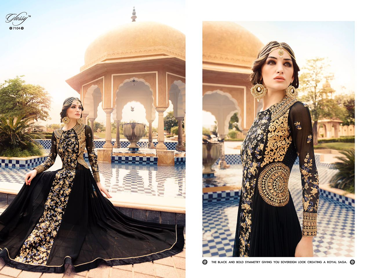 Manufacturer of elegant dresses evening dresses occasional wholesale - Glossy Hit Designs Glossy Wholesaleprice 7104