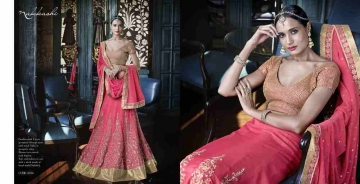 Grandeur-By-Nakkashi-Indian-Royal-Traditional-Heavy-Embroidered-Party-wear-Occasional-Wear-Wedding-Wear-Georgette-Sarees-5054