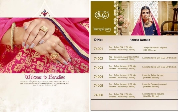 Kavya Suits Vol-74 by B.G. Fabric Details