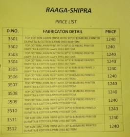 Raaga-Shipra-Swagat-Wholesaleprice-rate-list