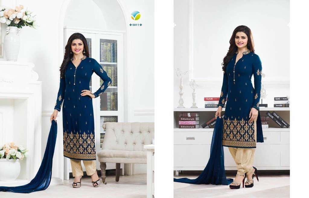 4b66a725b4 Prachi Vol 30 By Vinay Fashions 5011 To 5017 Series Bollywood Beautiful  Stylish Designer Embroidered Party Wear Georgette Dresses At Wholesale  Price ...