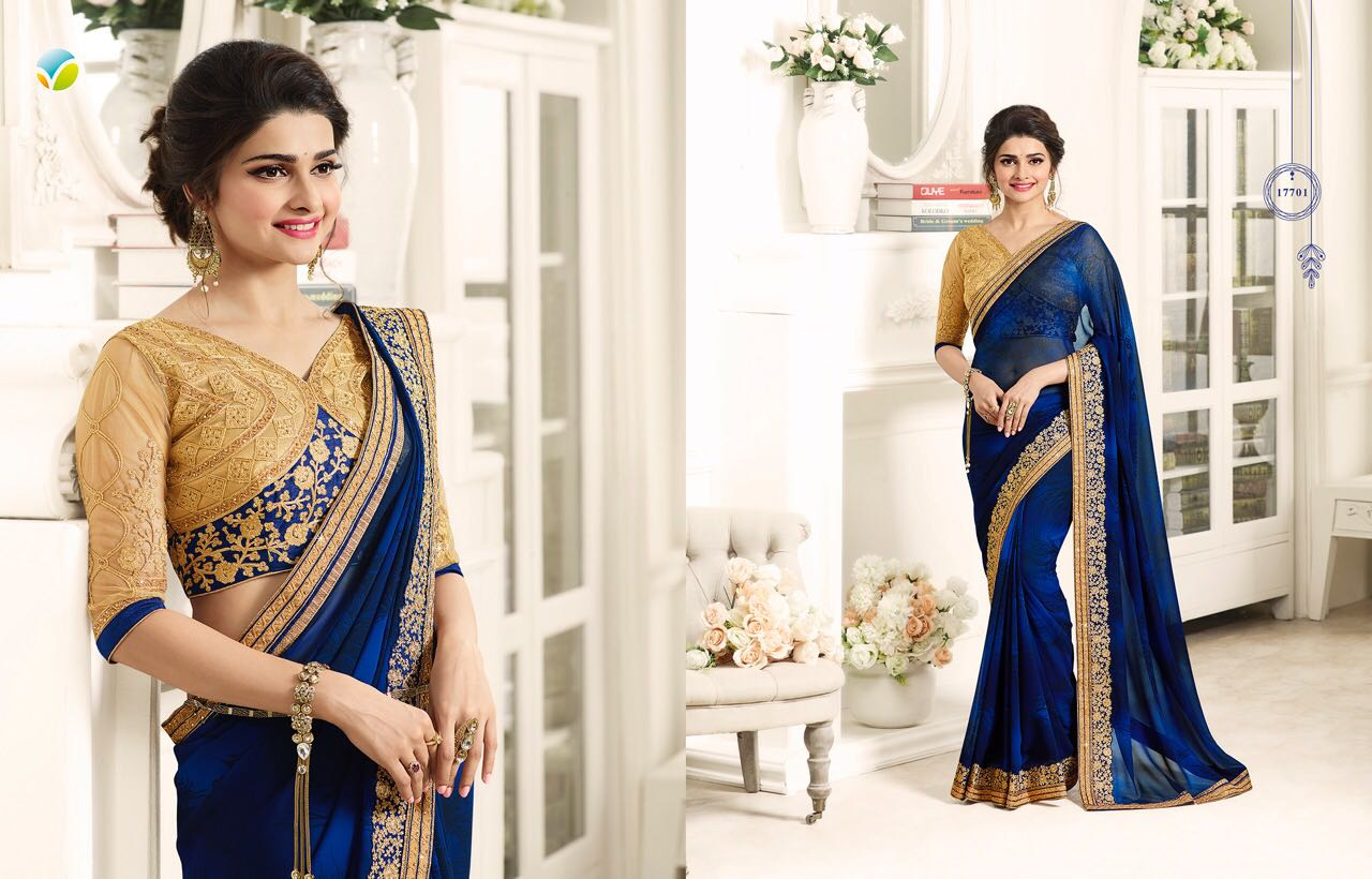 c982350feb Star Walk Vol 22 By Vinay Fashions 17701 To 17710 Series Bollywood  Beautiful Stylish Designer Embroidered Party Wear Occasional Wear Georgette  Sarees At ...