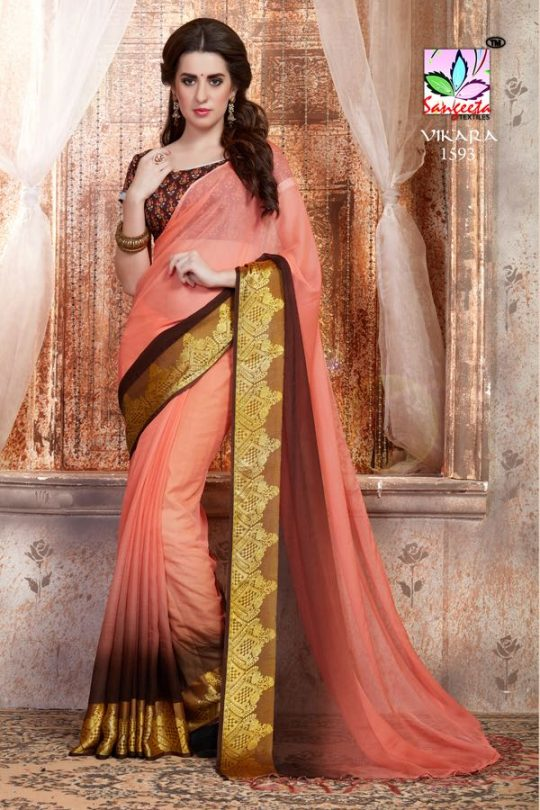 569f8eeef49 Vikara By Sangeeta Textile Indian Traditional Ethnic Beautiful Designer  Party Wear Occasion Wear Weightless Sarees At Wholesale Price