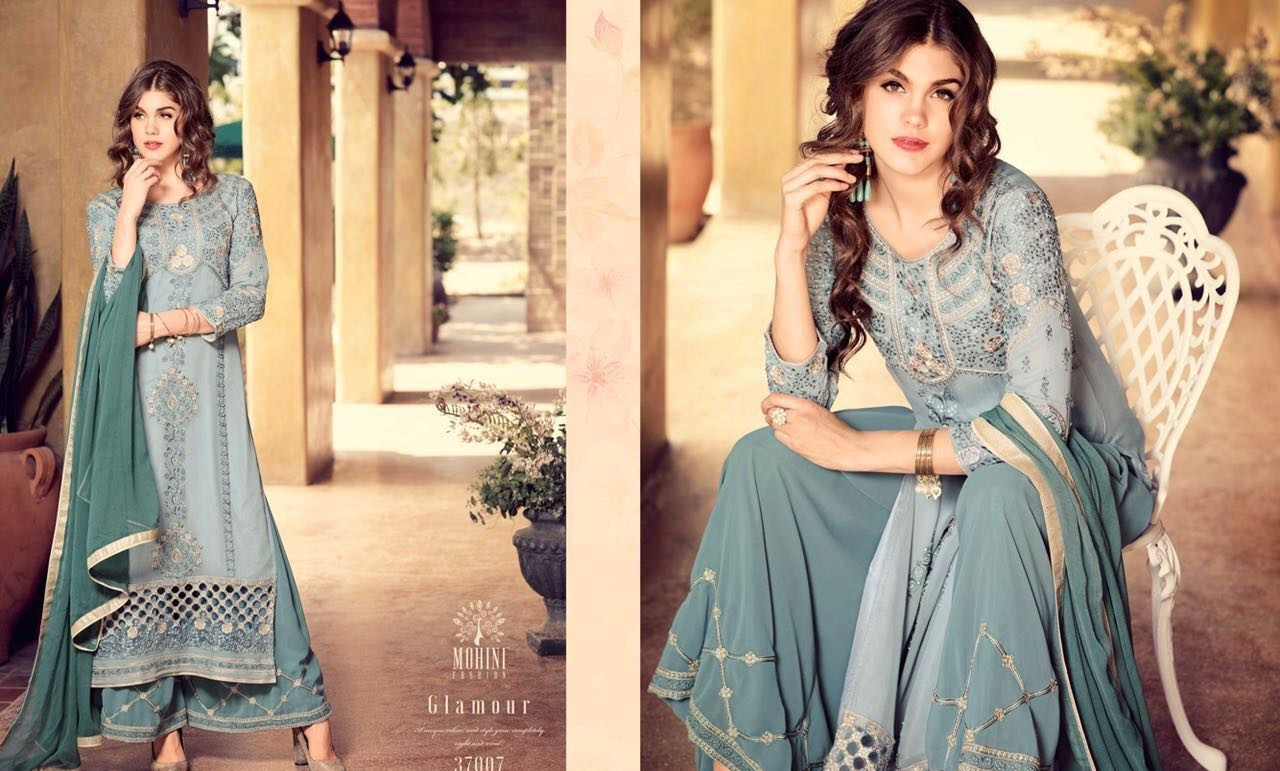 Glamour Vol 37 By Mohini Fashions 37001 To 37009 Series Pakistani Suits Designer Beautiful