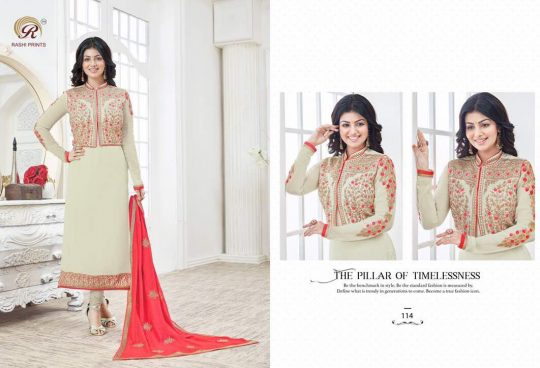 642294a276 ... VOL-2 BY RASHI PRINTS 111 TO 116 SERIES BEAUTIFUL EMBROIDERED COLOURFUL  STYLISH FANCY OCCASIONAL WEAR PARTY WEAR GEORGETTE DRESSES AT WHOLESALE  PRICE