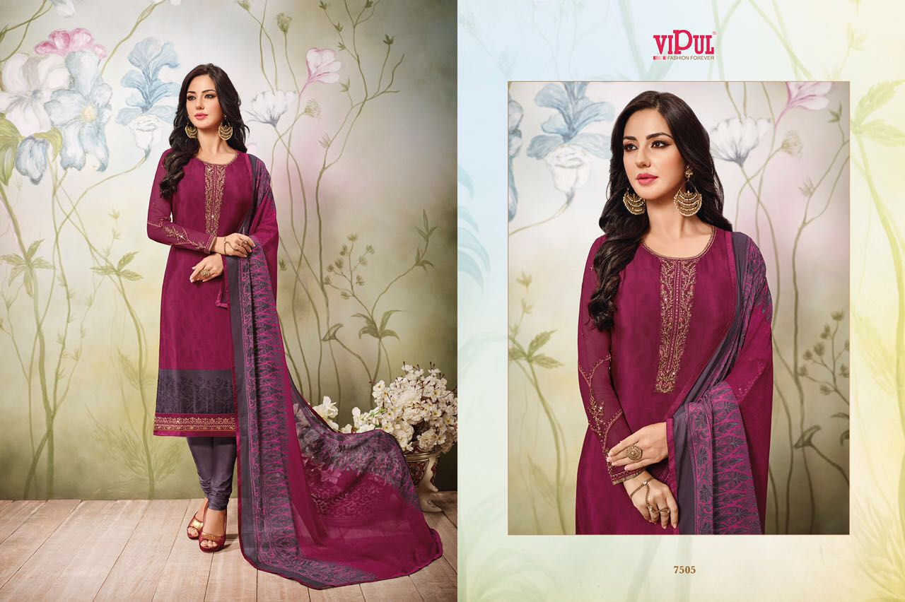 1758e67252 D CAT VOL-75 BY VIPUL FASHIONS 7501 TO 7510 SERIES INDIAN STYLISH ...