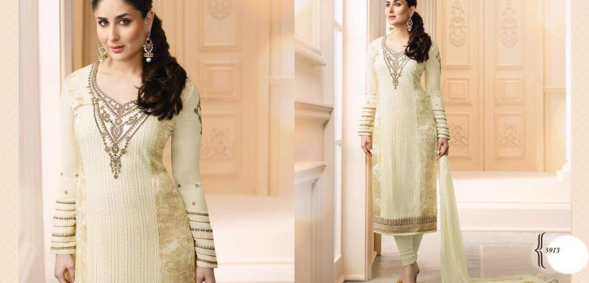 e44b516007 KAREENA BY VINAY FASHIONS 5911 TO 5917 SERIES DESIGNER BEAUTIFUL STYLISH  COLORFUL PARTY WEAR & OCCASIONAL WEAR FANCY GEORGETTE BRASSO EMBROIDERED &  PRINTED ...