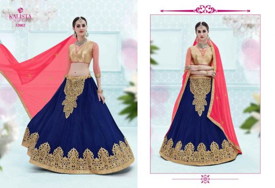 Ghunghaat By Kalista Fashion 32001 To 32008 Series Indian Designer Beautiful Colorful Fancy Wedding Collection Party Wear Occasional Silk Lehengas At