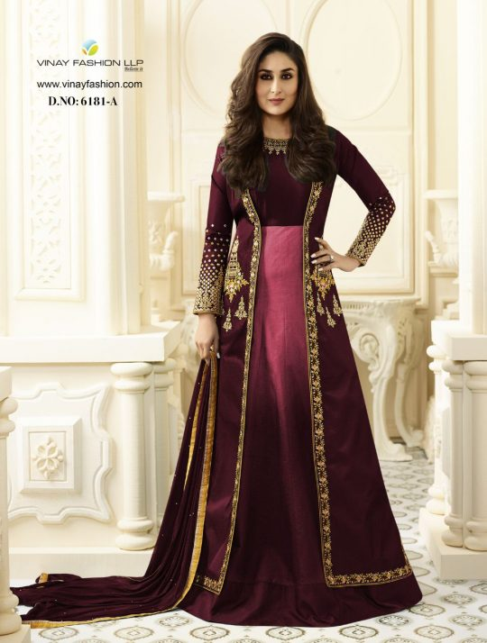 87732daa34 KAREENA VOL-2 6181 COLORS BY VINAY FASHION 6181 TO 6181-B SERIES DESIGNER  BEAUTIFUL STYLISH COLORFUL PARTY WEAR & OCCASIONAL WEAR FANCY PURE  GEORGETTE ...