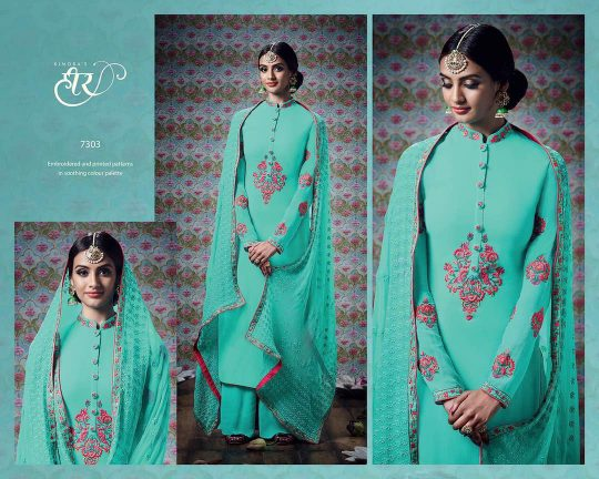 f2f5cccefb HEER VOL-24 HIT DESIGNS BY KIMORA FASHION PAKISTANI SUITS BEAUTIFUL  COLORFUL EMBROIDERED STYLISH FANCY PARTY WEAR & OCCASIONAL WEAR GEORGETTE  DRESSES AT ...