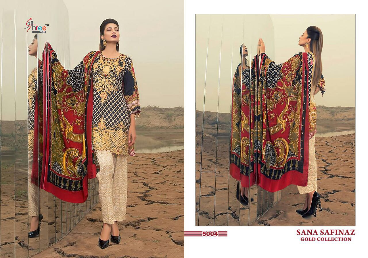 8bfbe5b4d7 SANA SAFINAZ GOLD COLLECTION BY SHREE FABS 5001 TO 5008 SERIES ...
