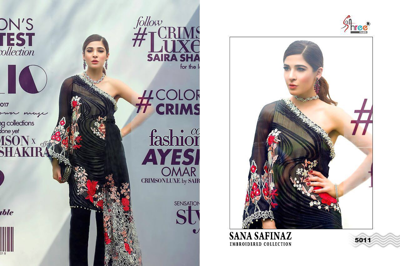 dda2cdd89a SANA SAFINAZ EMBROIDERED COLLECTION BY SHREE FABS 5011 TO 5017 ...