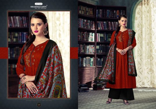 ebb34ac8cd RAZIYA BY SHAHNAZ ARTS 01 TO 09 SERIES BEAUTIFUL PAKISTANI SUITS STYLISH  FANCY COLORFUL PARTY WEAR & ETHNIC WEAR PURE COTTON CAMBRIC EMBROIDERED  DRESSES AT ...