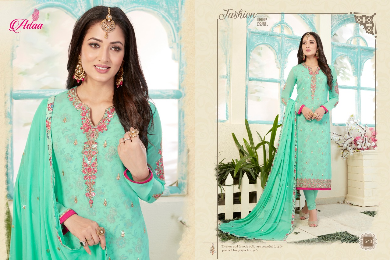 6fa068f35 APSARA BY ADAA 541 TO 547 SERIES DESIGNER SUITS COLLECTION BEAUTIFUL ...