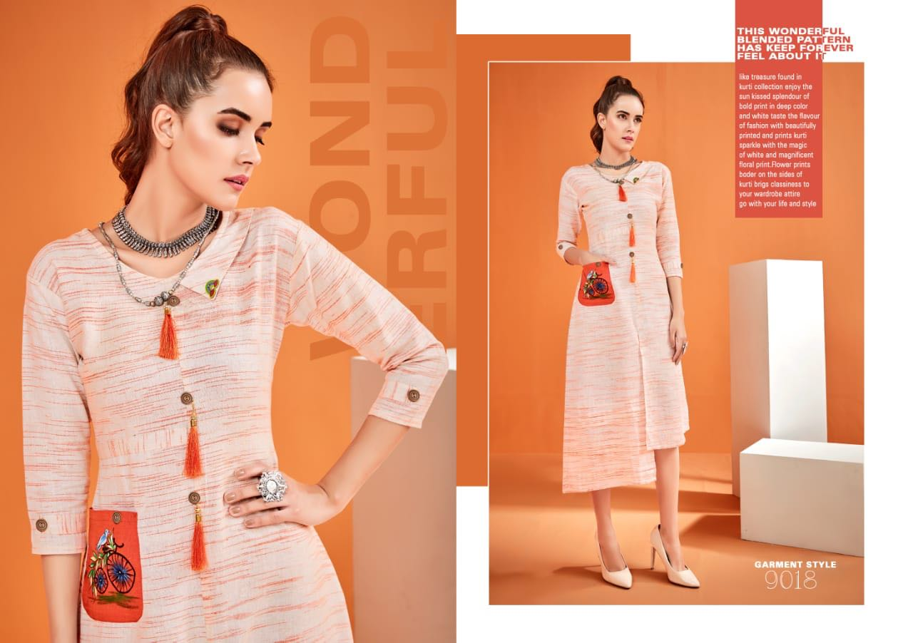 529adc93a74 HASTKALA VOL-2 BY DIVA DESIGNS 9018 TO 9025 SERIES DESIGNER BEAUTIFUL STYLISH  FANCY COLORFUL CASUAL WEAR   ETHNIC WEAR COTTON KHADI PRINTED KURTIS AT ...