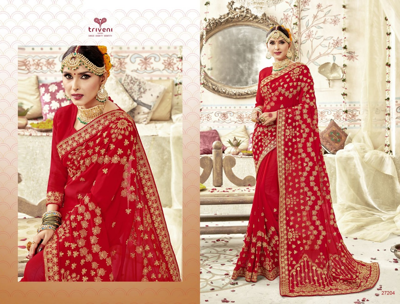 d1ffc29289 ABHINANDAN BY TRIVENI 27201 TO 27208 SERIES INDIAN TRADITIONAL WEAR ...