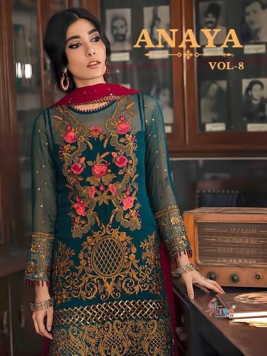 1911e1a430 ANAYA VOL-8 BY SHREE FABS 1961 TO 1967 SERIES PAKISTANI DESIGNER SUITS  COLLECTION BEAUTIFUL STYLISH FANCY COLORFUL PARTY WEAR & OCCASIONAL WEAR  FAUX ...