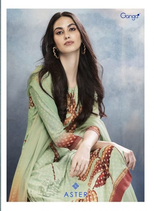4b2cb3087d ASTER BY GANGA FASHION 7610 TO 7618 SERIES BEAUTIFUL STYLISH FANCY COLORFUL  CASUAL WEAR & ETHNIC WEAR PURE BEMBERG SILK DIGITAL PRINTED DRESSES AT  WHOLESALE ...