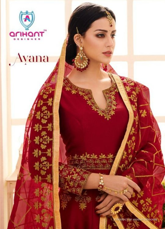 e6a6466345 AYANA BY ARIHANT DESIGNER 40001 TO 40004 SERIES DESIGNER ANARKALI SUITS  WEDDING COLLECTION BEAUTIFUL FANCY COLORFUL PARTY WEAR & OCCASIONAL WEAR  MULBERRY ...