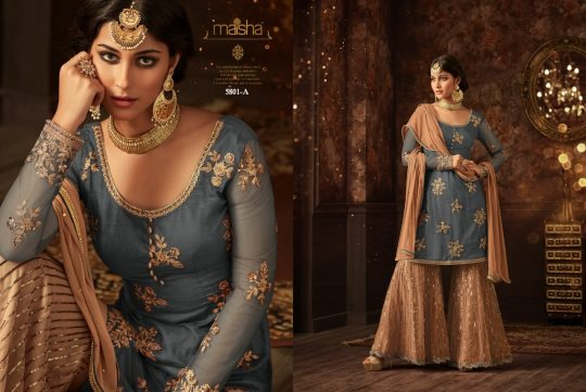 75a6b0cebe AZIZA 5801 COLOURS BY MAISHA 5801 TO 5801-C SERIES DESIGNER WEDDING  COLLECTION SUITS BEAUTIFUL STYLISH FANCY COLORFUL PARTY WEAR & OCCASIONAL  WEAR NET ...