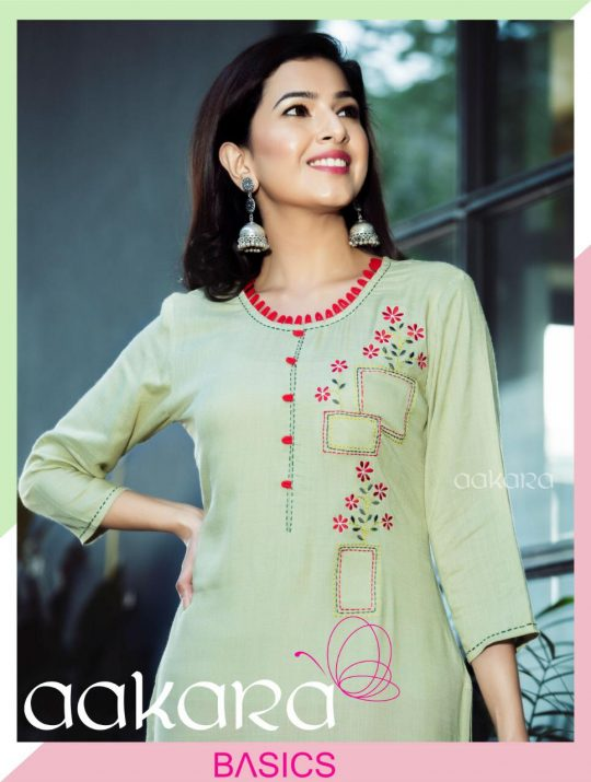 a30a0d4253 BASICS VOL-4 BY AAKARA SUITS 4001 TO 4008 SERIES DESIGNER BEAUTIFUL STYLISH  COLORFUL FANCY CASUAL WEAR & ETHNIC WEAR RAYON SLUB KURTIS AT WHOLESALE  PRICE