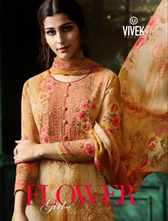 82395a9b48 FLOWER GIRL VOL-7 BY VIVEK FASHION 6401 TO 6408 SERIES BEAUTIFUL SUITS  STYLISH FANCY COLORFUL CASUAL WEAR & ETHNIC WEAR COLLECTION VISCOSE  GEORGETTE ...