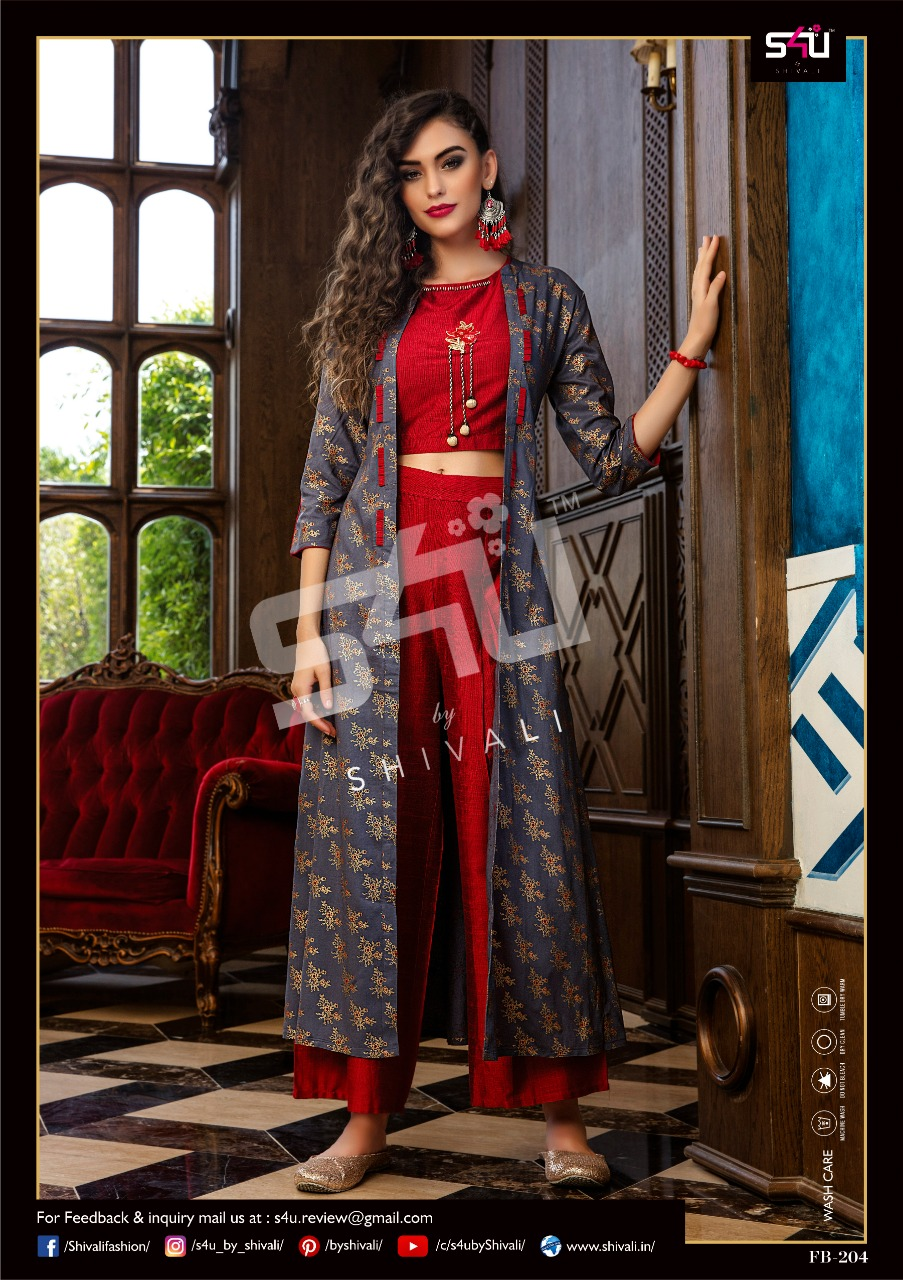 839cfd6de6 ... FANCY WESTERN BEAUTIFUL COLORFUL CASUAL WEAR & ETHNIC WEAR SILK PRINTED  CROP TOP WITH BOTTOM AND SHRUG AT WHOLESALE PRICE. Download Image Zip