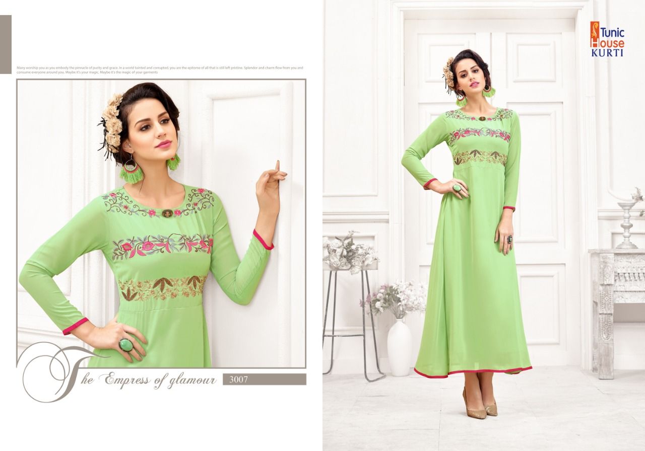 2746f32bc0f ... STYLISH FANCY CASUAL WEAR   ETHNIC WEAR   READY TO WEAR GEORGETTE  EMBROIDERED KURTIS AT WHOLESALE PRICE. Download Image Zip