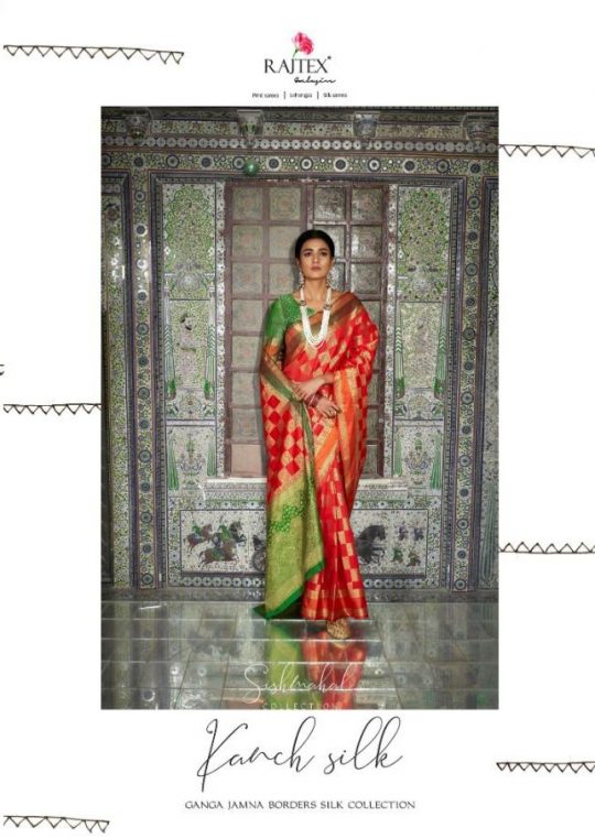 e2f388d765 KAANCH SILK BY RAJ TEX 84001 TO 84012 SERIES INDIAN TRADITIONAL WEAR  COLLECTION BEAUTIFUL STYLISH FANCY COLORFUL PARTY WEAR & OCCASIONAL WEAR  HANDLOOM ...