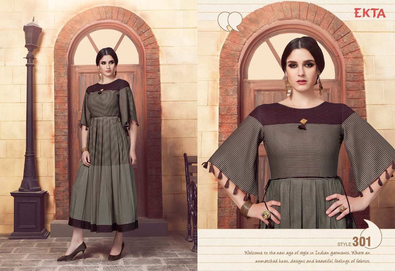 Fashid Wholesale » KASHVI VOL-3 BY EKTA FASHION 301 TO 308