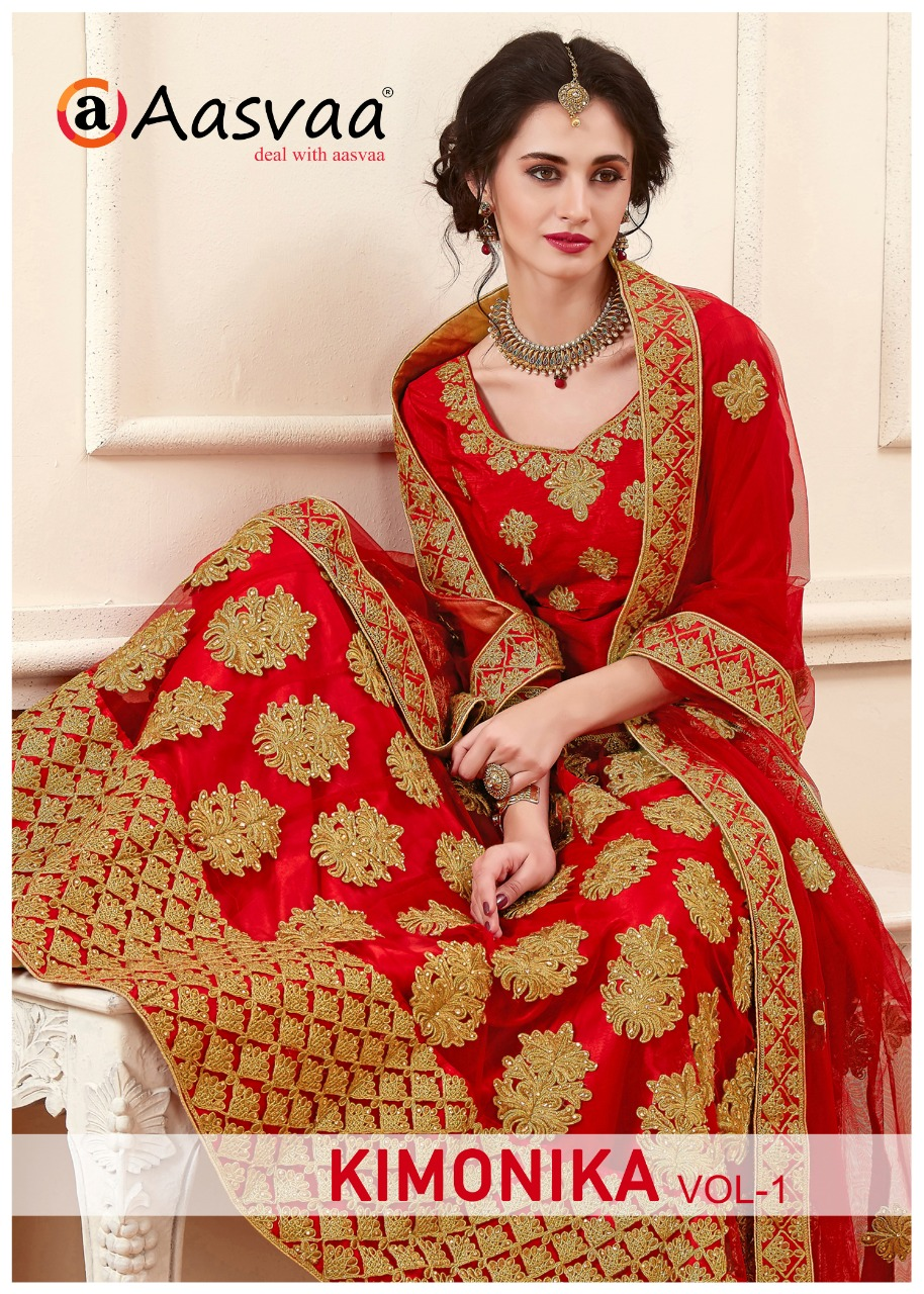 c29a8277e KIMONIKA VOL-1 BY AASVAA 23601 TO 23604 SERIES DESIGNER WEDDING ...
