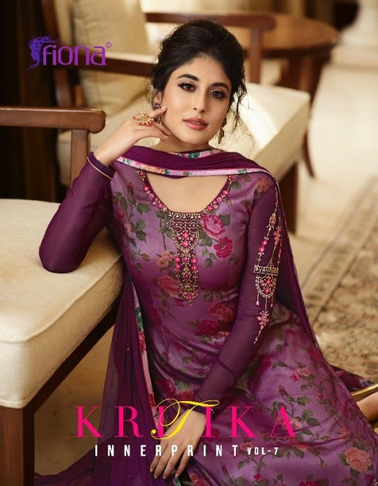 20011d763c KRITIKA VOL-7 BY FIONA 22251 TO 22257 SERIES DESIGNER SUITS BEAUTIFUL  STYLISH FANCY COLORFUL PARTY WEAR & OCCASIONAL WEAR SATIN GEORGETTE DRESSES  AT ...