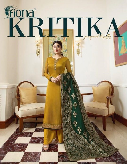 262e334314 KRITIKA JACQUARD DUPATTA VOl-9 BY FIONA 22441 TO 22447 SERIES DESIGNER SUITS  COLLECTION BEAUTIFUL STYLISH FANCY COLORFUL PARTY WEAR & OCCASIONAL WEAR  SATIN ...