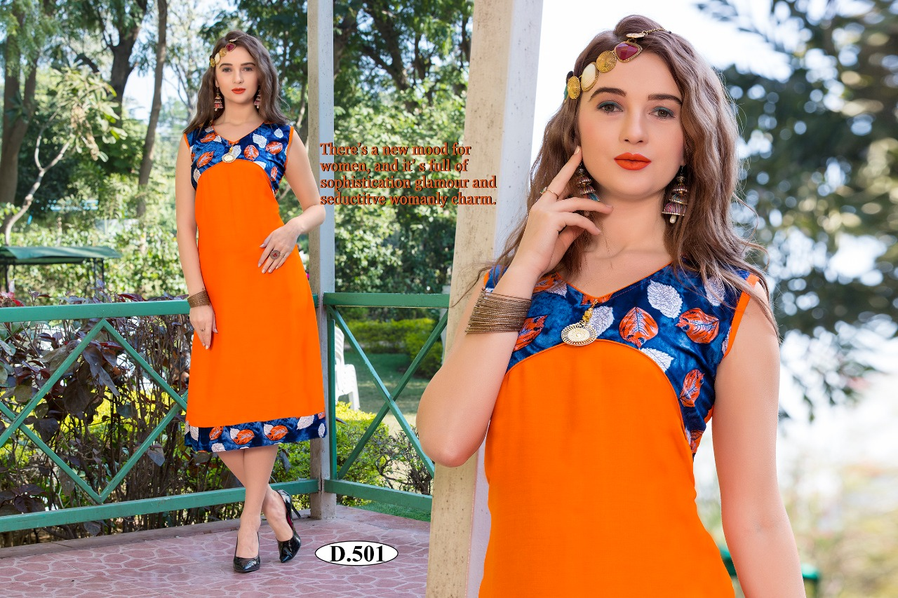 eb074d7f5d5 MAGIC VOL-2 BY KAAMIRI 501 TO 510 SERIES STYLISH FANCY BEAUTIFUL COLORFUL  CASUAL WEAR   ETHNIC WEAR HEAVY RAYON PRINTED KURTIS AT WHOLESALE PRICE