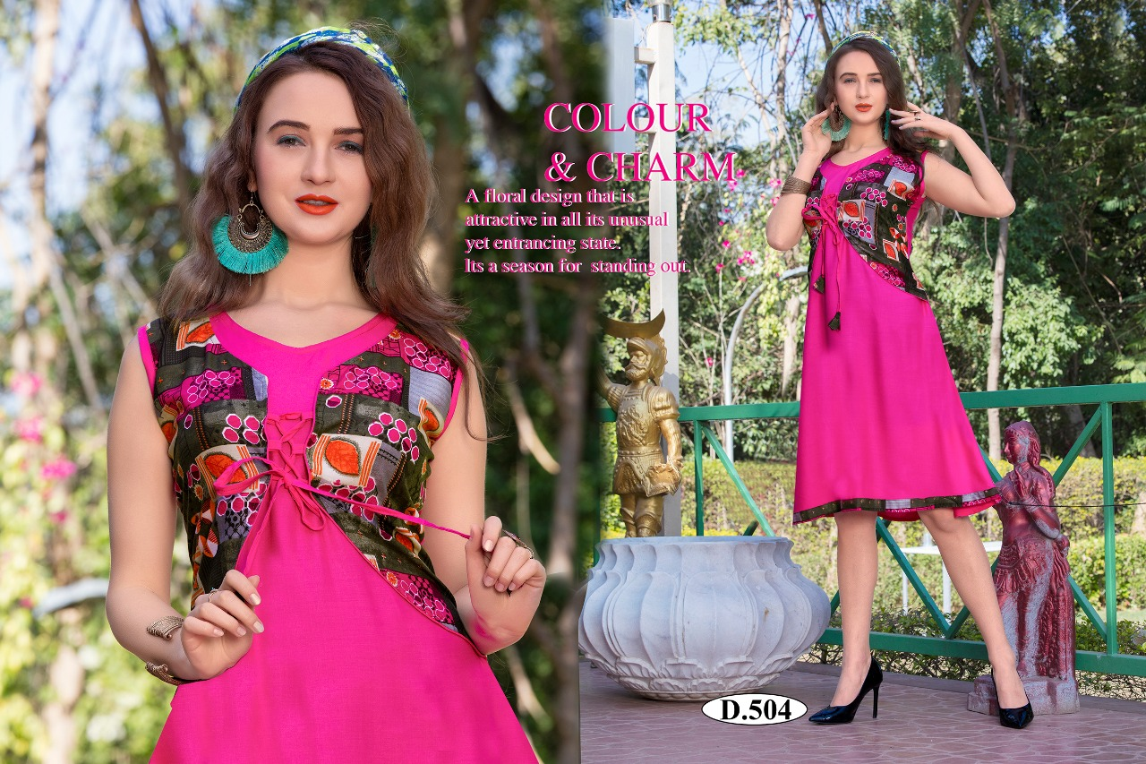 d9f30076bb7 ... STYLISH FANCY BEAUTIFUL COLORFUL CASUAL WEAR   ETHNIC WEAR HEAVY RAYON  PRINTED KURTIS AT WHOLESALE PRICE. Download Image Zip