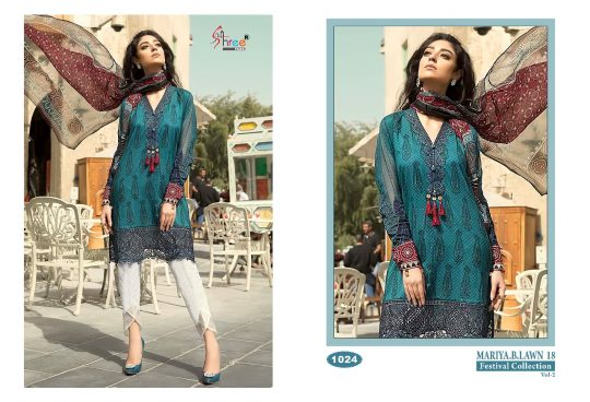 bf0b11bb19 B.LAWN.18 VOL-2 BY SHREE FABS 1021 TO 1028 SERIES DESIGNER PAKISTANI SUITS  BEAUTIFUL STYLISH FANCY COLORFUL CASUAL WEAR & ETHNIC WEAR COLLECTION  CAMBRIC ...