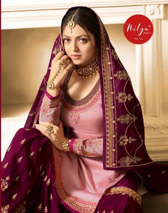 0c46ea37e7 NITYA VOL-125 BY LT FABRICS 2501 TO 2508 SERIES DESIGNER SHARARA SUITS  COLLECTION BEAUTIFUL STYLISH FANCY COLORFUL PARTY WEAR & OCCASIONAL WEAR  SATIN ...