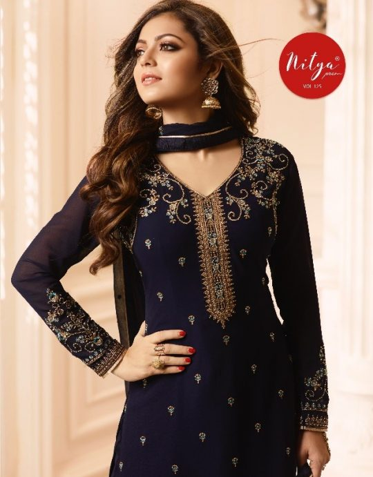 46216d9aea NITYA VOL-126 BY LT FABRICS 1001 TO 1008 SERIES DESIGNER FESTIVE SUITS  COLLECTION BEAUTIFUL STYLISH FANCY COLORFUL PARTY WEAR & OCCASIONAL WEAR  GEORGETTE ...