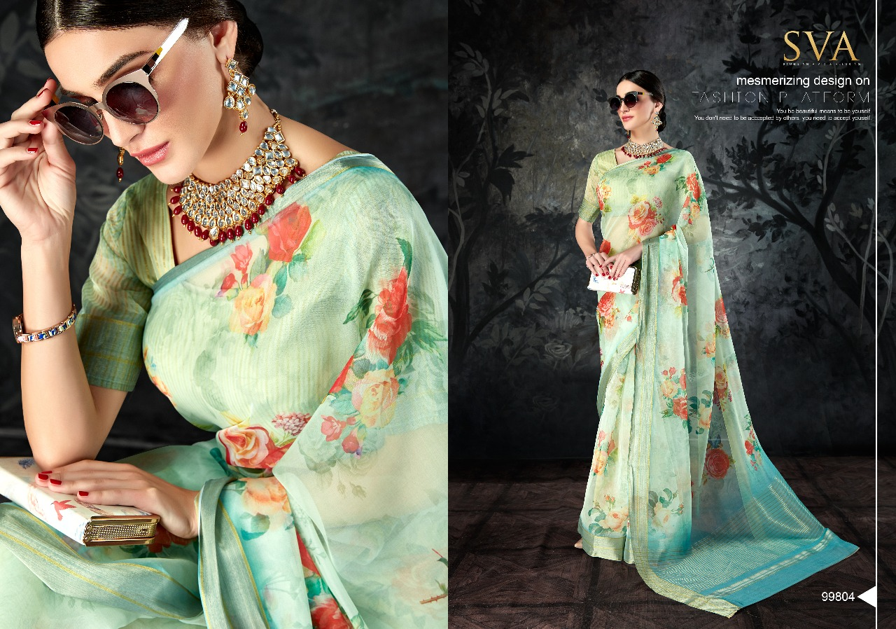 47ab0c294e ORGANZA SAREES BY SVA 99801 TO 99810 SERIES DESIGNER INDIAN ...