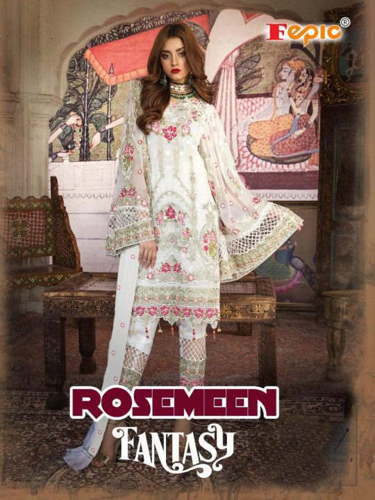 a637b6e024 ROSEMEEN FANTASY BY FEPIC 55001 TO 55005 SERIES DESIGNER PAKISTANI  COLLECTION SUITS BEAUTIFUL STYLISH FANCY COLORFUL PARTY WEAR & OCCASIONAL  WEAR GEORGETTE ...