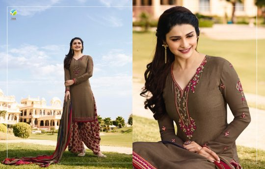 ec017adb48 ROYAL CREPE VOL-16 BY VINAY FASHION 7441 TO 7449 SERIES BEAUTIFUL PATIALA  SUITS COLORFUL STYLISH FANCY CASUAL WEAR & ETHNIC WEAR CREPE EMBROIDERED  DRESSES ...