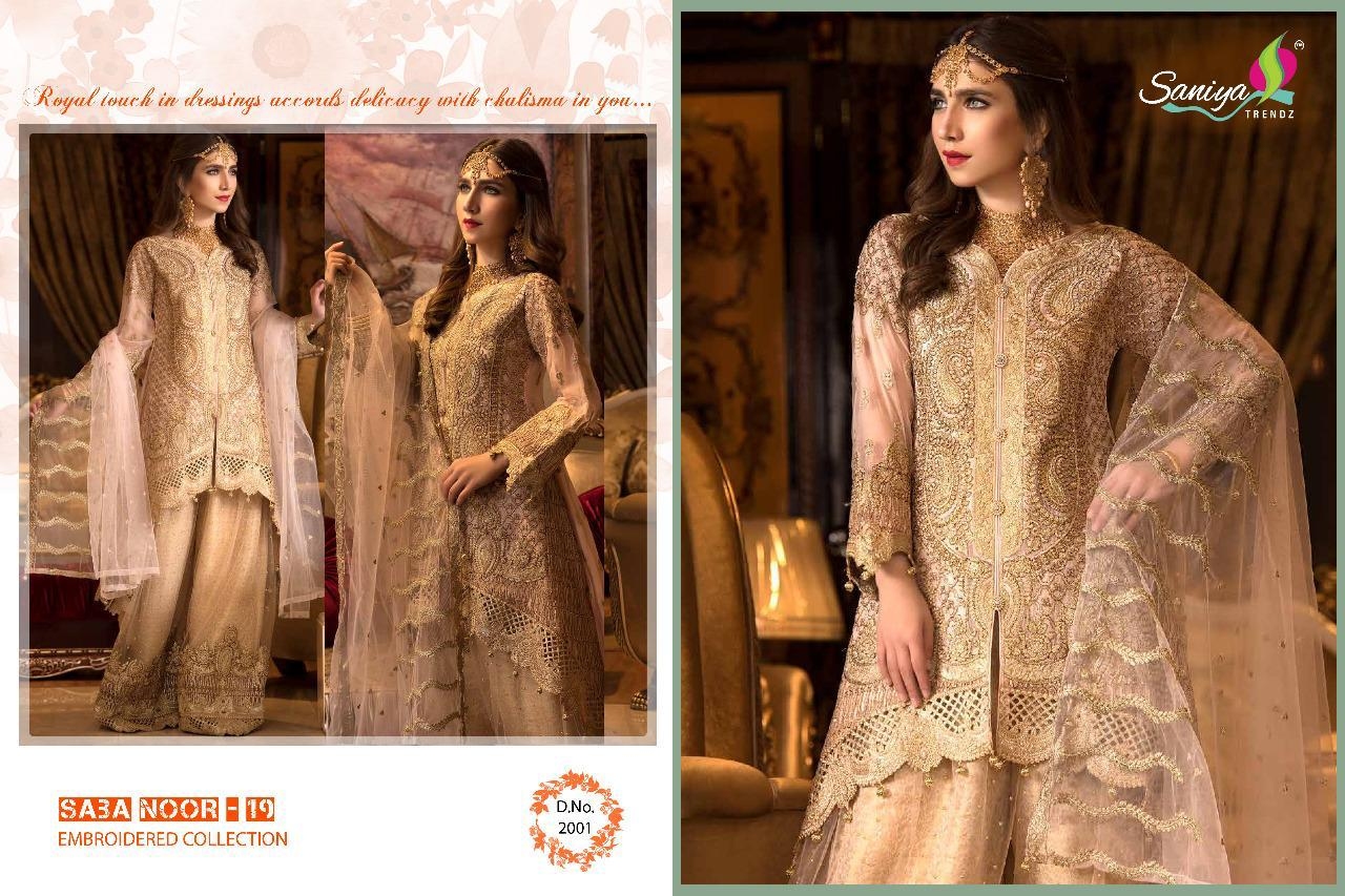 6aa9faa117 SABA NOOR-19 BY SANIYA TRENDZ 2001 TO 2004 SERIES DESIGNER PAKISTANI SUITS  BEAUTIFUL STYLISH FANCY COLORFUL PARTY WEAR & ETHNIC WEAR FOUX GEORGETTE  WITH ...