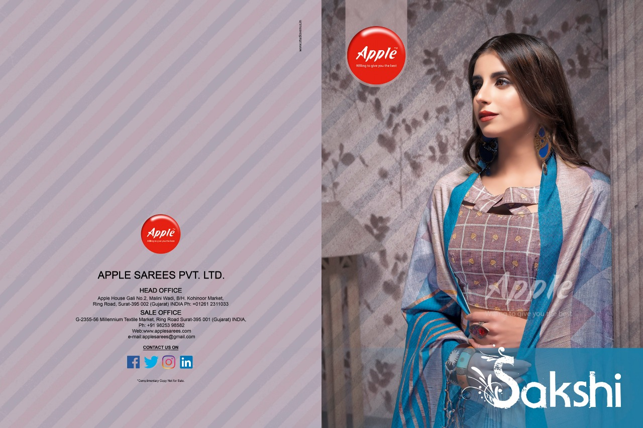 SAKSHI BY APPLE 6101 TO 6112 SERIES INDIAN TRADITIONAL WEAR