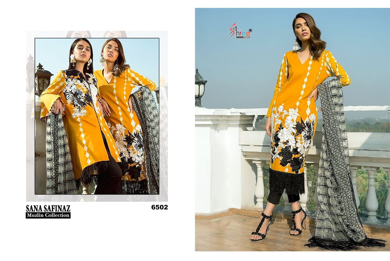 d8b8b5e4da SANA SAFINAZ MUZLIN COLLECTION BY SHREE FABS 6501 TO 6508 SERIES ...