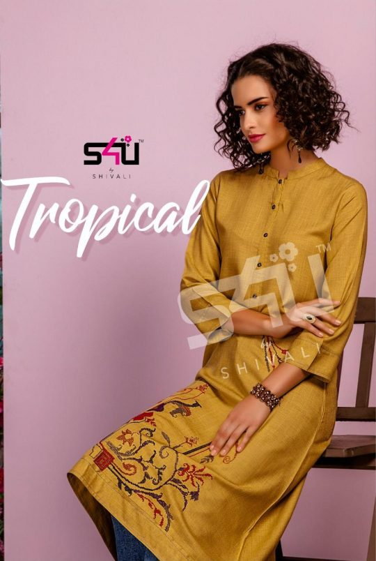 9f597eb84f TROPICAL BY S4U FASHION 001 TO 010 SERIES BEAUTIFUL COLORFUL STYLISH FANCY PARTY  WEAR & ETHNIC WEAR & READY TO WEAR FANCY PRINTED KURTIS AT WHOLESALE PRICE