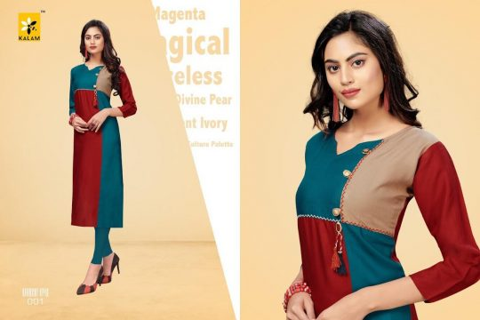 f125e88291 WOMENS BY KALAM 001 TO 008 BEAUTIFUL STYLISH COLORFUL FANCY PARTY WEAR &  ETHNIC WEAR & READY TO WEAR COTTON RAYON KURTIS AT WHOLESALE PRICE